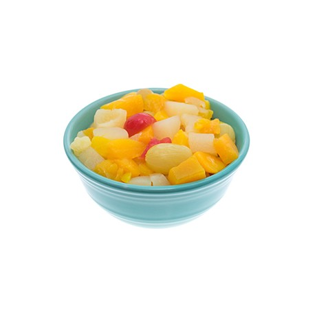 Fruit Cocktail peach-pear-grape-pineaple-cherry in Syrup 17/19º brix 425 ml Easy Open Tin - ECANNERS