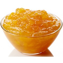 Peach Jam 55% Fruit 45% Sugar in Glass Jar of 314 ml