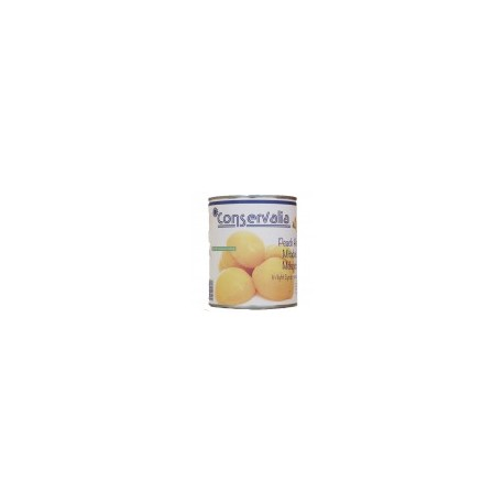 CONSERVALIA Peach Halves in Light Syrup 14/16º brix 850 ml Easy Open - ECANNERS